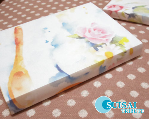 水彩画のブックカバー
