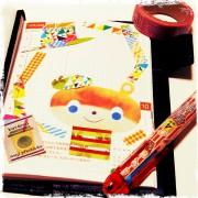 水彩で描いた絵とマスキングテープで、ほぼ日手帳をドレスアップ