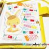 水彩で描いた絵を使って、ほぼ日手帳をたのしく活用